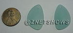 Cultured Sea Glass eclipse Pendants <b>25x17mm</b> 881-Opaque Seafoam per <b>2-pc-bag</b>