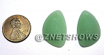 Cultured Sea Glass eclipse Pendants <b>25x17mm</b> 892-Opaque Seafoam Green per <b>2-pc-bag</b>