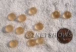 Cultured Sea Glass half-drilled round  Beads <b>8mm </b> 07-Sweet Peach per <b>12-pc-bag</b>