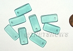 Cultured Sea Glass bottle-curved earring rectangle Pendants <b>22x11mm</b> 89-Autumn Green per <b>8-pc-bag</b>