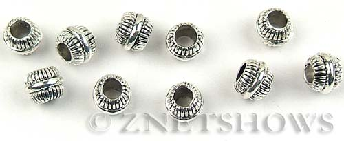 BM Large Hole Beads <b>10mm</b> Other Colors silver color round spacer beads per   <b>10-pc-bag</b>