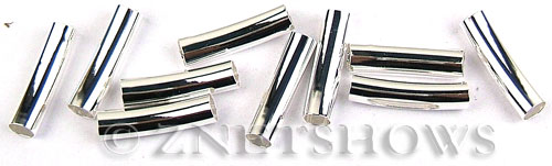Base Metal Findings <b>20x5mm</b> Antique Silver Tone silver-plated copper curved per   <b>10-pc-bag</b>