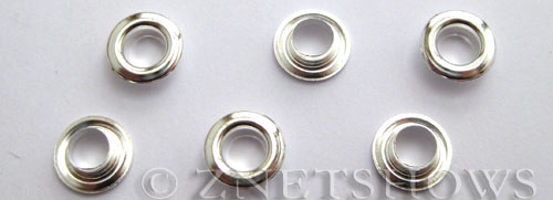 Base Metal Findings <b>about 9x4.5mm</b> Antique Silver Tone Silver Plated Half Cores, findings per   <b>100-pc-bag</b>