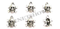 Base Metal Charms <b>14x12mm</b> Antique Silver Tone  per   <b>5-pc-bag</b>