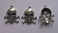 Base Metal Charms <b>26x22mm</b> Antique Silver Tone  per   <b>5-pc-bag</b>