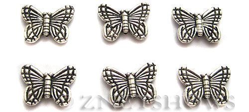BM Animal Beads <b>14x10mm </b> Antique Silver Tone  per   <b>12-pc-bag </b>
