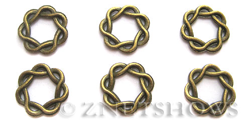 Base Metal Beads <b>15mm </b> Antique Brass Tone  per   <b>12-pc-bag </b>