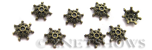 Base Metal Beads <b>9mm </b> Antique Brass Tone  per   <b>24-pc-bag </b>