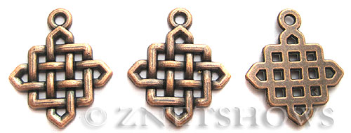 Base Metal Charms <b>25x21mm</b> Antique Copper Tone celtic knot (5-pc-bag) per   <b>5 Bags</b>