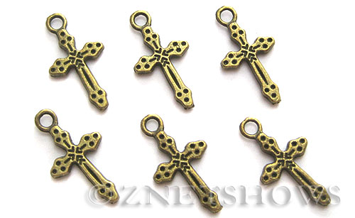 Base Metal Charms <b>21x11mm</b> Antique Brass Tone (14-pc-bag) per   <b>5 Bags</b>