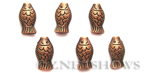 BM Animal Beads <b>18x10mm </b> Antique Copper Tone  per   <b>4-pc-bag </b>