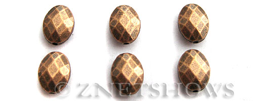 Base Metal Beads <b>10x8mm</b> Antique Copper Tone (7-pc-bag) per   <b>5 Bags</b>