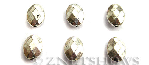 Base Metal Beads <b>10x8mm</b> Antique Silver Tone (7-pc-bag) per   <b>5 Bags</b>