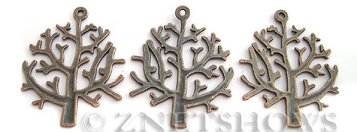 Base Metal Charms <b>32x26mm</b> Antique Copper Tone tree (5 pcs per bag) per   <b>5 bags</b>
