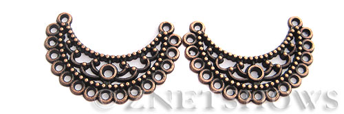 Base Metal Charms <b>35x29mm</b> Antique Copper Tone Crescent (3-pc-bag) per   <b>5 Bags</b>