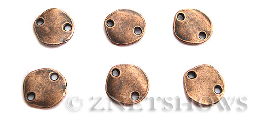 Base Metal Beads <b>15mm</b> Antique Copper Tone (6-pc-bag) per   <b>5 Bags</b>