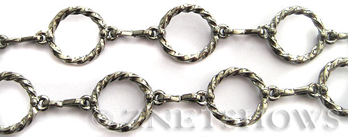 Base Metal Chain <b>15mm</b> Gunmetal Tone (Endless 50 inch Loop) per   <b>50-in-str </b>