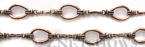Base Metal Chain <b>10mm</b> Antique Copper Tone (Endless 50 inch Loop) per   <b>50-in-str</b>