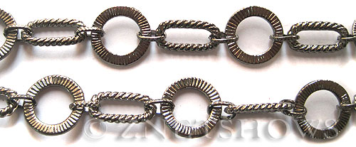 Base Metal Chain <b>9-17mm</b> Gunmetal Tone (Endless 50 inch Loop) per   <b>50-in-str </b>