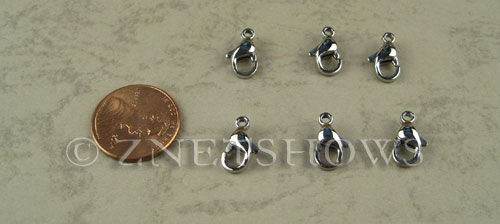 Base Metal Findings <b>12mm</b> Stainless Steel Lobster clasp per   <b>25-pc-bag</b>