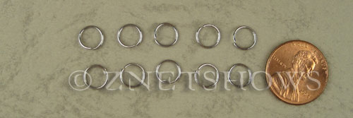 Base Metal Findings <b>7mm</b> Stainless Steel Jump Ring 0.7mm thick per   <b>100-pc-bag</b>