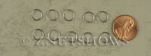 Base Metal Findings <b>8mm</b> Stainless Steel Jump Ring 0.7mm thick per   <b>100-pc-bag</b>