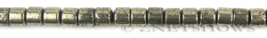 pyrite  tube Beads <b>8x6mm</b>  <b>70% Off Discount</b> per   <b>15.5-in-str</b>