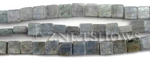 kyanite  square Beads <b>8x8mm</b>  unpolished chisel cut per   <b>about 8-in-str</b>