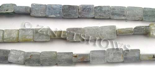 kyanite  rectangle Beads <b>10x8mm</b>  unpolished chisel cut per   <b>about 8-in-str</b>