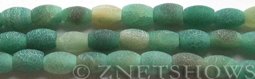 Fire Agate  barrel Beads <b>about 12x8mm</b>  green color<b> (only $0.90 per   <b>8-in-str </b>)</b> per   <b>10-str-hank</b>