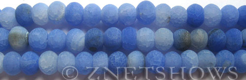 Fire Agate  rondelle Beads <b>about 10x8mm</b>  blue color per   <b>10-str-hank</b>