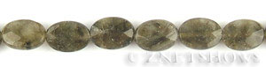 Other Stones & Materials - labradorite oval puffed Beads <b>10x14mm</b> faceted   per   <b>15.5-in-str</b>