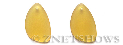 Cultured Sea Glass eclipse Pendants  <b>25x17mm</b> 16-Desert Gold teardrop nugget matching earring left side   per  <b>10-pc-pack</b>