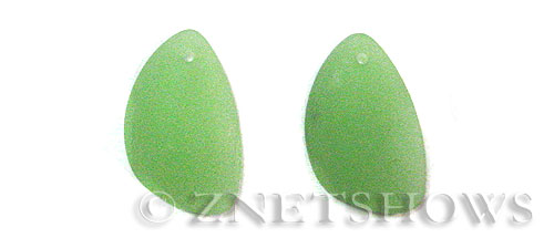 Cultured Sea Glass eclipse Pendants  <b>25x17mm</b> 43-Opaque Seafoam Green teardrop nugget matching earring left side   per  <b>10-pc-pack</b>