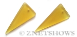 Cultured Sea Glass shield Pendants  <b>48x21mm</b> 84-Lemon    per  <b>piece</b>