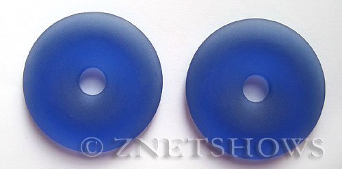 Cultured Sea Glass donut Pendants  <b>40mm</b> 33-Royal Blue    per  <b>piece</b>