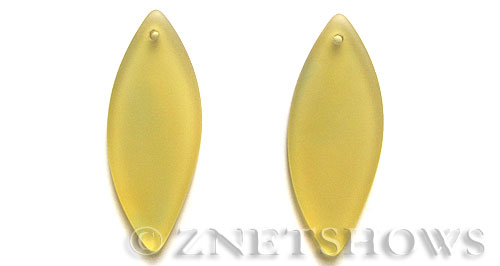 Cultured Sea Glass marquise spindle Pendants  <b>48x19mm</b> 16-Desert Gold    per  <b>piece</b>