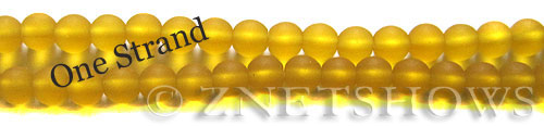 Cultured Sea Glass round Beads  <b>6mm</b> 84-Lemon    per  <b>32 pcs in 8-in-str</b>