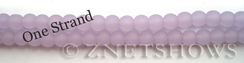 Cultured Sea Glass round Beads  <b>6mm</b> 85-Opaque Periwinkle    per  <b>32 pcs in 8-in-str</b>