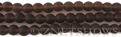 Cultured Sea Glass round Beads  <b>8mm</b> 37-Medium Amethyst    per  24 pcs in 8-in-str <b>5-str-hank</b>