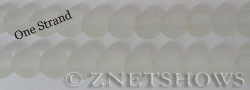 Cultured Sea Glass round Beads  <b>10mm</b> 01-Crystal    per  19 pcs in 8-in-str