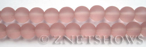 Cultured Sea Glass round Beads  <b>10mm</b> 06-Blossom Pink    per  19 pcs in 8-in-str <b>5-strand-hank</b>