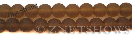 Cultured Sea Glass round Beads  <b>10mm</b> 17-Amber    per  19 pcs in 8-in-str