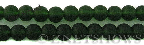 Cultured Sea Glass round Beads  <b>10mm</b> 25-Shamrock    per  19 pcs in 8-in-str
