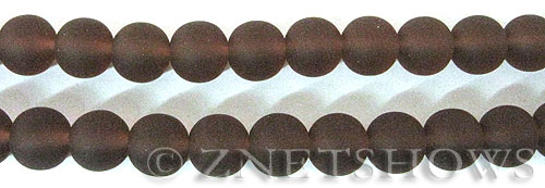 Cultured Sea Glass round Beads  <b>10mm</b> 37-Medium Amethyst    per  19 pcs in 8-in-str <b>5-strand-hank</b>