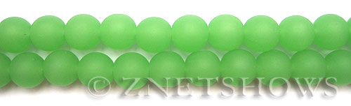 Cultured Sea Glass round Beads  <b>10mm</b> 43-Opaque Seafoam Green    per  19 pcs in 8-in-str <b>5-strand-hank</b>