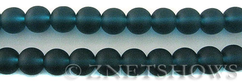 Cultured Sea Glass round Beads  <b>10mm</b> 82-Teal    per  19 pcs in 8-in-str <b>5-strand-hank</b>
