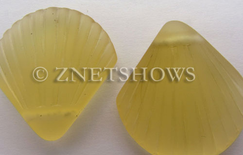 Cultured Sea Glass shell Pendants  <b>30x28mm</b> 16-Desert Gold    per  <b>10-pc-bag</b>
