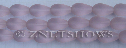 Cultured Sea Glass teardrop round Beads  <b>16x10mm</b> 06-Blossom Pink    per  <b>8-in-str</b>