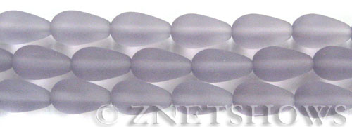 Cultured Sea Glass teardrop round Beads  <b>16x10mm</b> 39-Periwinkle Changes (4-in-str)(6-pc-str)   per  <b>5-str-hank</b>